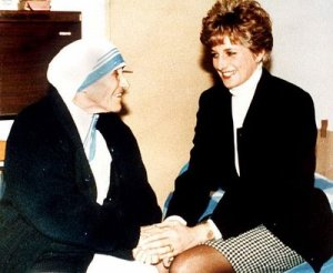 Mother Teresa and Lady Diana