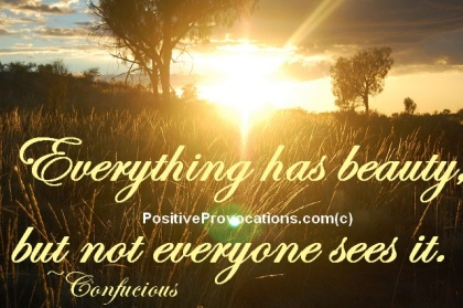 Everything has beauty, but not everyone can see. | quotes