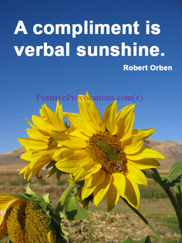 A-compliment-is-verbal-sunshine