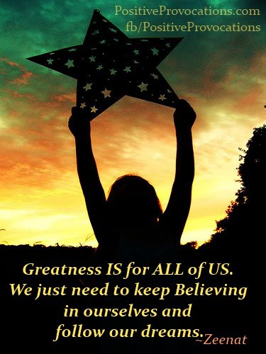Greatness is for all of us