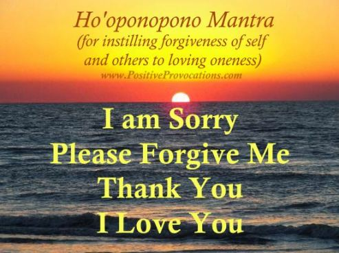 Hoponopono mantra