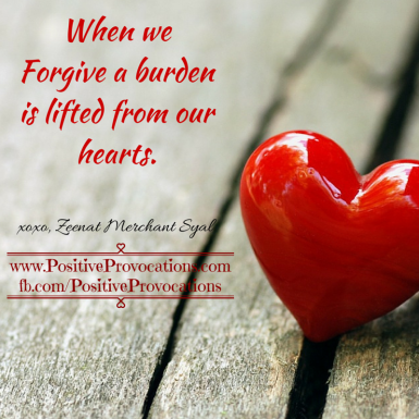 When we Forgive a burden is lifted from our hearts.